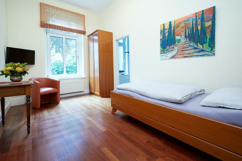 Patientenraum der Praxisklinik Brahmsallee in Hamburg